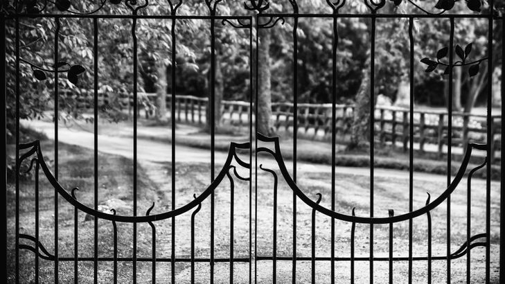 A metal fence that has been created by our team
